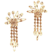Vendome Dripping Rhinestone Earrings,  ca 1940�s