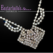 Sparkling, Sexy Vintage Rhinestone Necklace