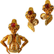 Magical and Mystical HAR Genie Earrings and Brooch