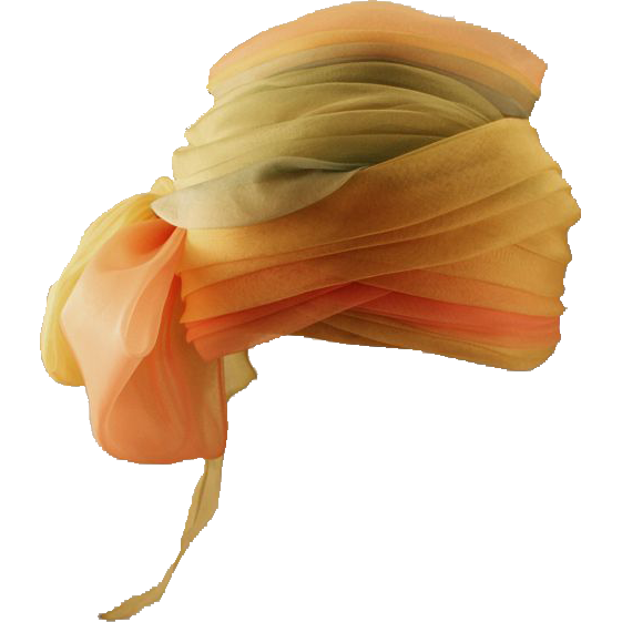 Ethereal and Lovely Schiaparelli Netted Turban with Sassy Bow