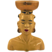 ca 1950's African Woman Ceramic Head Vase with Great Detailing