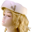 Vintage O'Neil's White Wool & Rhinestone Hat