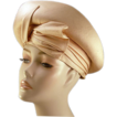 ca 1960's Ultra Chic Dupioni Silk Champagne Colored Adolfo Hat