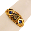 ca 1900's Fully Hallmarked 18K Diamond Sapphires Ring Beautiful