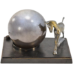 An Absolute Treasure Rare Greist Co. Hand Blown Mercury Glass & Bronze Globe Lamp