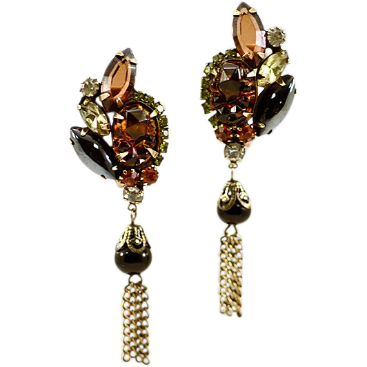 Elegant and Classic Alice Caviness Rhinestone Dangle Earrings from easterbelles-emporium on Ruby ...