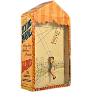 "Very Rare ""Flying Marvel"" Trapeze Circus Acrobat Sand-Powered Toy"