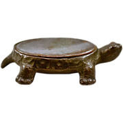 Antique Cast Iron & Steel Turtle Pin Cushion Base