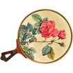 Sweet Small I. Magnin Purse Mirror with Rose Motif with Original Sticker