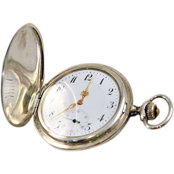 antique niello swiss pocket sterling silver nouveau