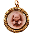 Antique 15 Karat Gold Frame Locket