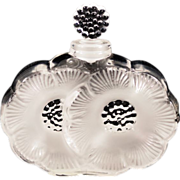 "Vintage Lalique Iconic ""Les Deux Fleurs"" Perfume  Original Sticker and Etched"