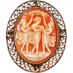 "Victorian ""Three Graces"" Cameo in Sterling Silver"
