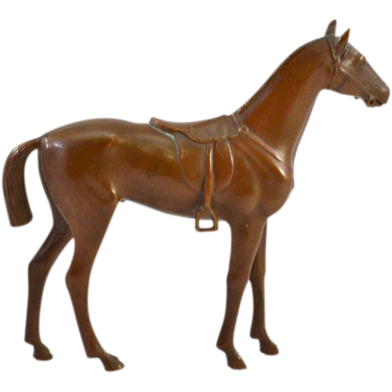 Lovely Jennings Brothers Bronze Finished Horse Figurine