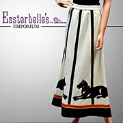 Classic Beautifully Detailed 1940's Knit Skirt - Custom Made