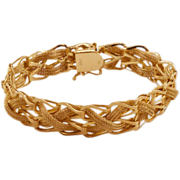 Gorgeous Solid 14K Gold Vintage Barnabus Barna Bracelet
