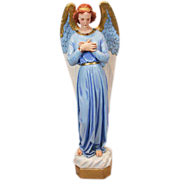 Beautiful Vintage Chalkware Angel Statue - Almost 4 Feet Tall