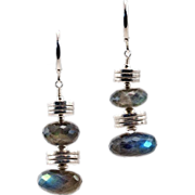 Sexy Sterling and Labradorite OOAK Davison Earrings