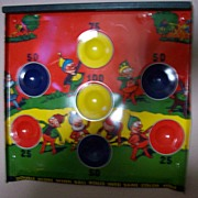 SOLD Lovely steel gameboard with Pixies-Beautiful Colors