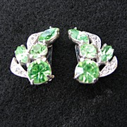 SALE PENDING Eisenberg Ice Peridot Green Earrings