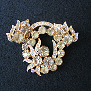 Jonquil Eisenberg Ice Pin Brooch and Earrings Set