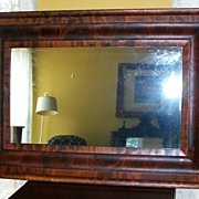 SOLD Antique Flame Mahogany Ogee Mirror