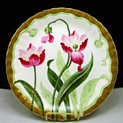 "SOLD Limoges HP ""Tulips"" Charger"