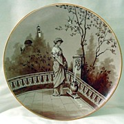"SOLD Limoges HP ""Girl Fetching Water"" Plaque"