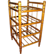 Antique faux, bamboo, maple canterbury, c.1900