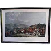 SALE Antique Print: The Wynnstay Hunt engraved by W. T. Daley, 19th c.