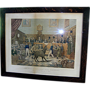 SALE Antique print, Trial of Bill Burn, cruelty to animals,  Animal right's legislation 1838