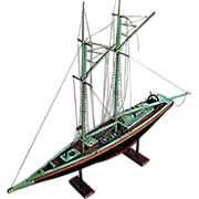Pond Boat, Sailboat , Large - mounted on stand