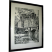 Vintage print, Etching by Albert Devaris, Paris Scene