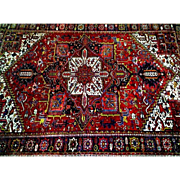 Hand Made Persian Oriental Rug, Heriz, 10.5 x 13.5 feet, circa mid 20th c.