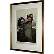 Vintage print, chronograph-lithograph, The Pet, framed by David Brenndan Fine Art Studios, c .
