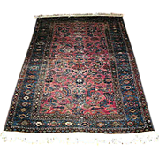 Semi-Antique rug, sarouk, c.1930, approx. 72 x 44 inches-beautiful uniform wear!