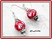 Red and White Polymer Clay Earrings