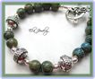 Blue Green Ceramic Bead Bracelet