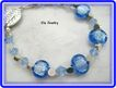 Pale Blue Dichroic Bracelet