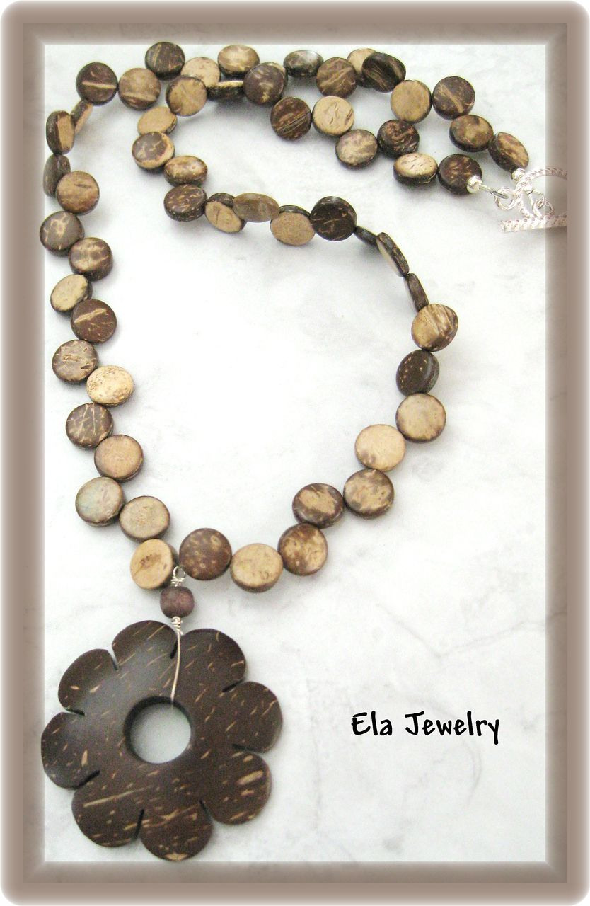 Coconut Shell Pendant Necklace