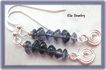 Iolite Gemstone Chips with Sterling Silver Charm Earrings