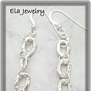 Sterling Silver Links Earrings