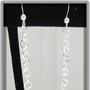 Crystal Quartz Faceted Long Earrings