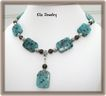 Kiwi Turquoise and Smoky Quartz Necklace