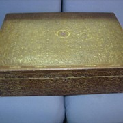 Large Antique Italian Leather Box