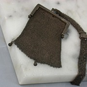 SALE Victorian Sterling Mesh Purse