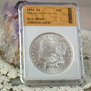 SALE MS 65 1901 O  Morgan Silver Dollar