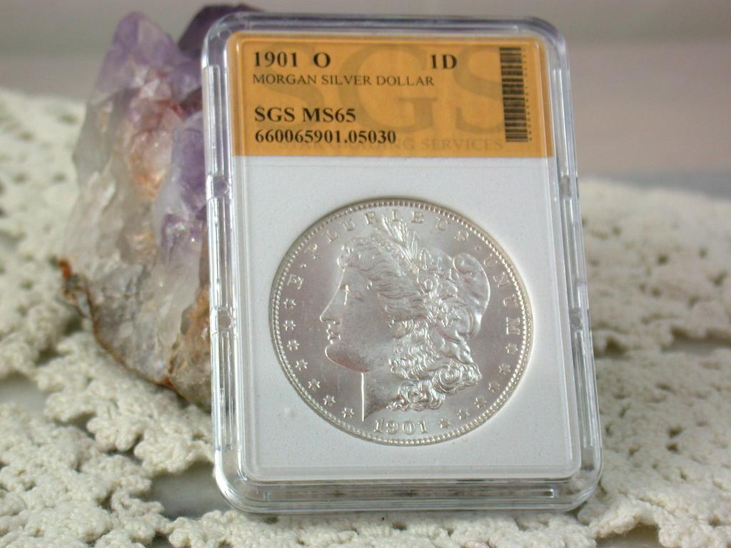 MS 65 1901 O  Morgan Silver Dollar
