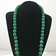 SALE Estate Graduated Aventurine Necklace