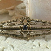 Edwardian 9C Amethyst Bar Pin